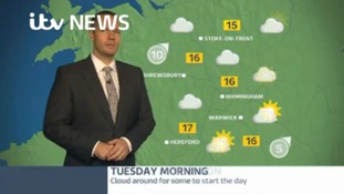 West Midlands Weather: Cloud around to start the day