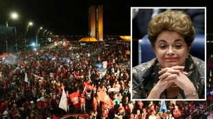 Protests erupt in Brazil as President Dilma Rousseff's impeachment trial comes to an end
