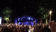 Candlelit vigil to mark the end of Manchester Pride