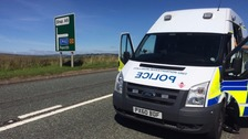 Scene of the accident on the A6 near Shap