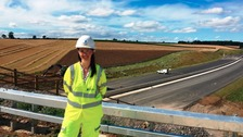 A1 between Leeming and Barton almost finished