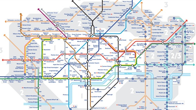 the new map that helps commuters walk the tube