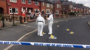 Murder scene in Eccles
