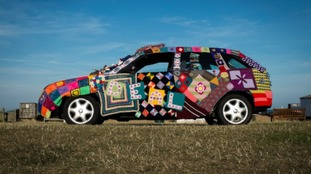 Grans from Deal drive knitted car to Rome