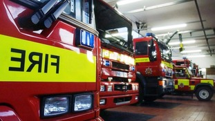 Road closed due to fire at disused shops