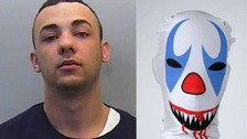 Clown robber jailed for holding up Beefeater restaurants