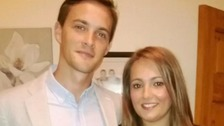 Oliver Dearlove with his girlfriend Claire