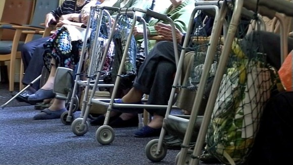 Elderly people in a care home.