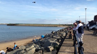 A rescue operation was launched at Roker Beach after teenagers got into difficulty in the water