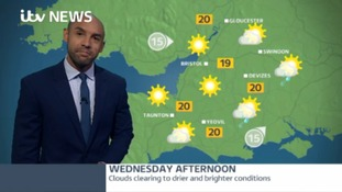 West weather - cloudier to begin with but there's sunshine on the horizon for this afternoon.