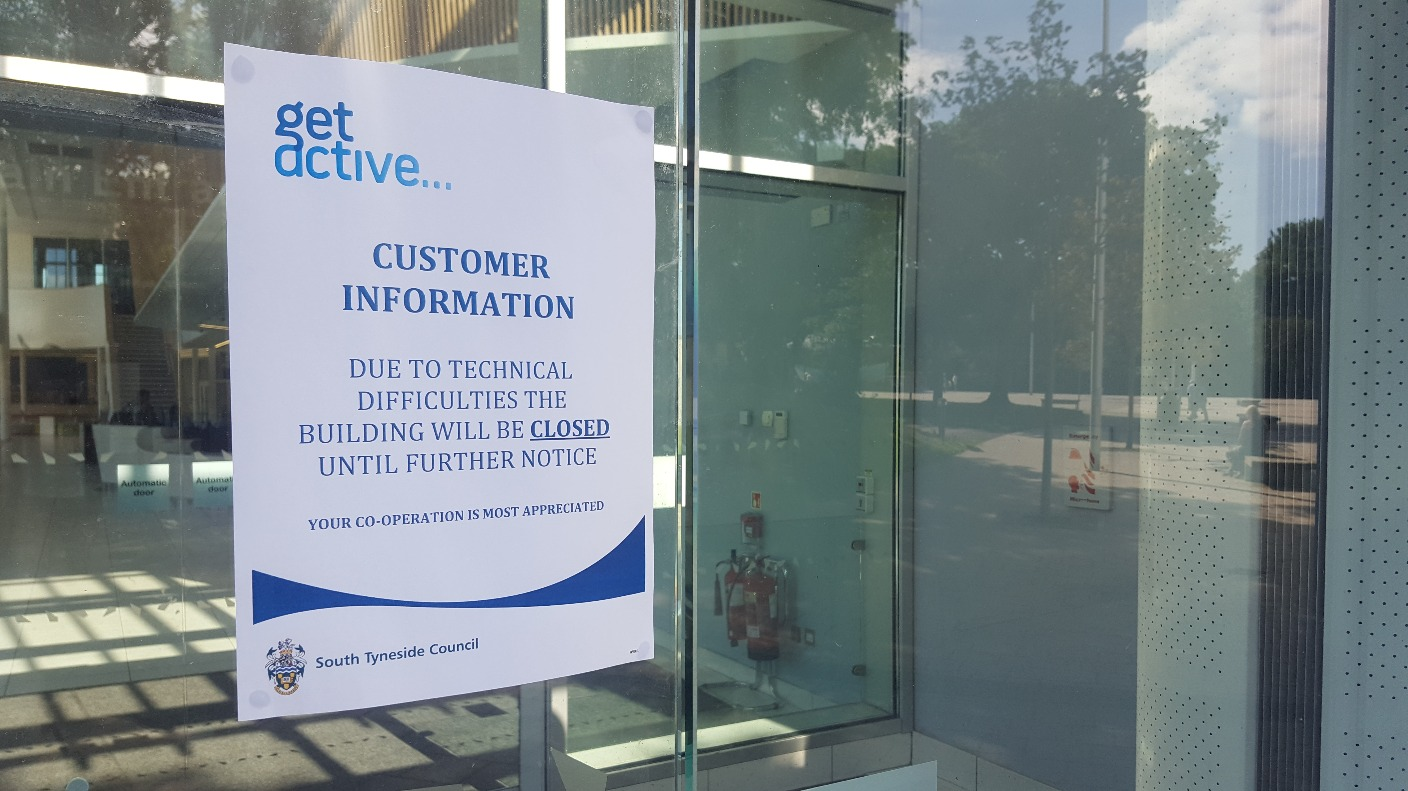 South Shields Leisure Centre Closed Until Further Notice Tyne Tees Itv News