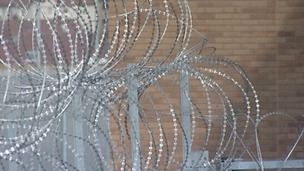 Barbed wire at a prison