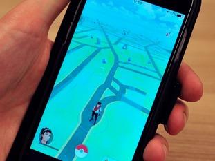 The Pokemon Go app on a phone.