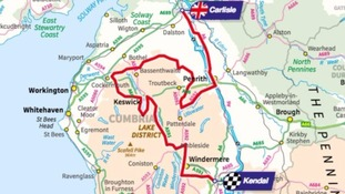 Tour of Britain Stage Two route