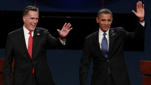 President Obama and Republican presidential nominee Mitt Romney