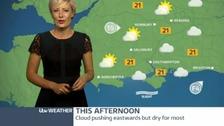 Helen Plint has today's forecast