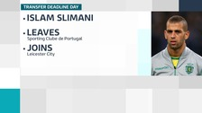 Leicester pay club-record fee for strike Slimani