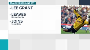 Lee Grant joins Stoke City on loan from Derby County