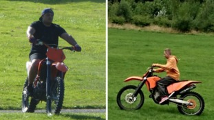 Bikers tear through children's play park