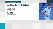 Birmingham City sign striker Lukas Jutkiewicz on loan from Burnley