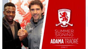 Middlesbrough sign Aston Villa's Adama Traore on 4 year deal