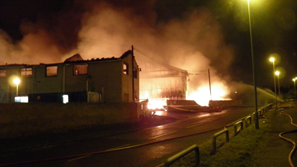 Forty Firefighters Fight Massive Blaze In Widnes Granada