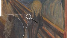 The Scream and the mysterious white mark.