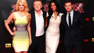 Tulisa, Louis Walsh, Nicole Scherzinger and Dermot O'Leary