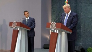 Trump met Enrique Pena Nieto on Wednesday