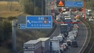 Stationary traffic on M42 Southbound