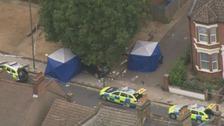 The scene of the crash in Penge