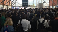 The crowds at North Greenwich station