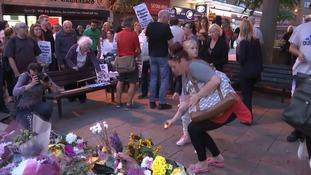 People at the vigil