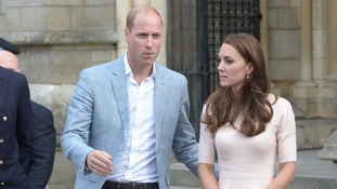 Kate and William - in Cornwall.