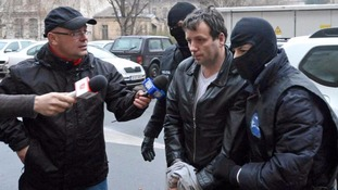 Marcel Lazar pictured after his arrest in Romania in 2014.