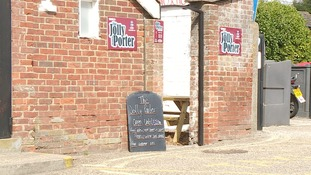 The Jolly Porter pub at Diss Station