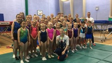Olympic silver medalist Bryony Page surprised members of the Stoke Elite Trampolining club.
