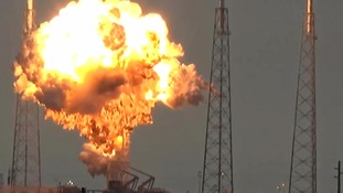 Explosion rocks SpaceX launchpad in Cape Canaveral