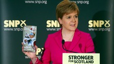 First Minister Nicola Sturgeon speaks at an event in Stirling, where she launched a fresh bid to convince Scots to back independence.