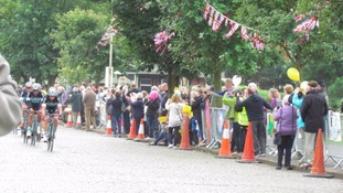 Crowds gathered in Silloth last year for the Tour of Britain.