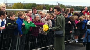 Princess Royal's Cumbria visit in pictures
