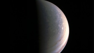 Juno probe images show 'hardly recognisable' Jupiter