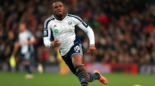 Victor Anichebe playing for West Bromwich Albion