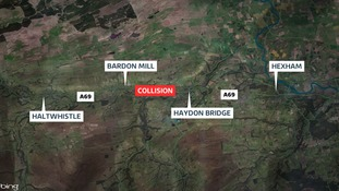 One dead and nine injured after four vehicle crash