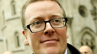 Frankie Boyle leaves the High Court after winning more than more than £54,000 damages