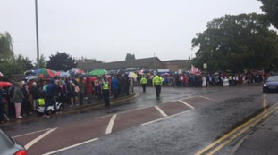 Thousands march to protest against overnight closure of Grantham A&E