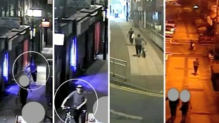 CCTV shows woman followed before knife-wielding attacker dragged her down an alley