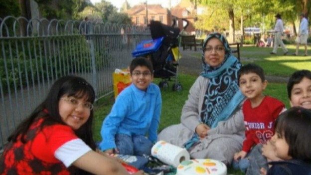 Dr Sabah Usmani and her children who died in a fire