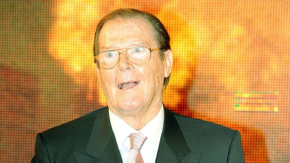 Sir Roger Moore at the book signing in London