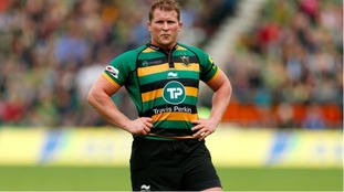 Northampton Saints' Dylan Hartley at Franklin's Gardens